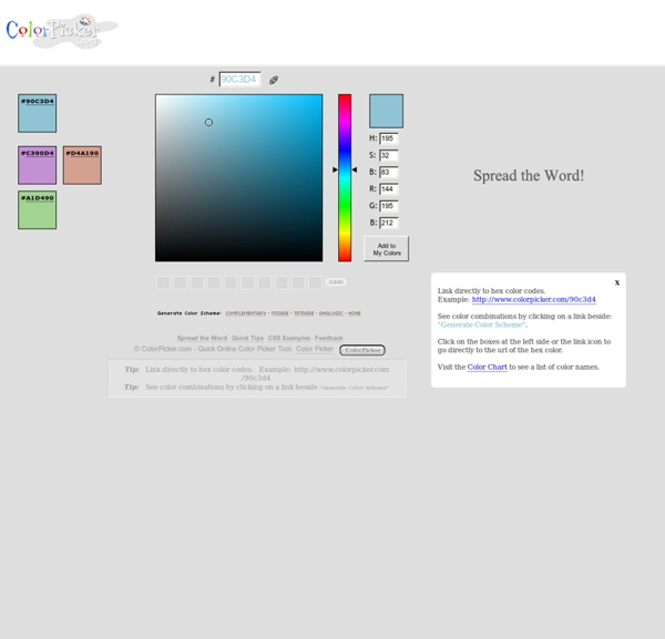 ColorPicker.com : Quick Online Color Picker Tool