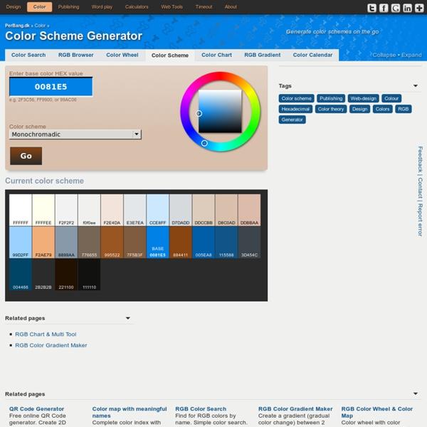 Color Scheme Generator Pearltrees - Color map generator