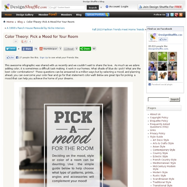 Color Theory: Pick a Mood for Your Room « Design Shuffle's blog