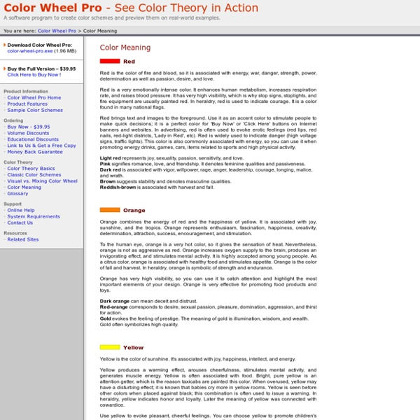 color wheel pro: color meaning | pearltrees