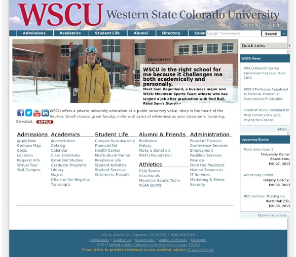 Live. Learn. Here. — Western State College of Colorado