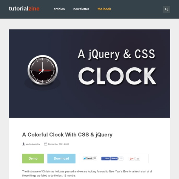 A Colorful Clock With CSS & jQuery