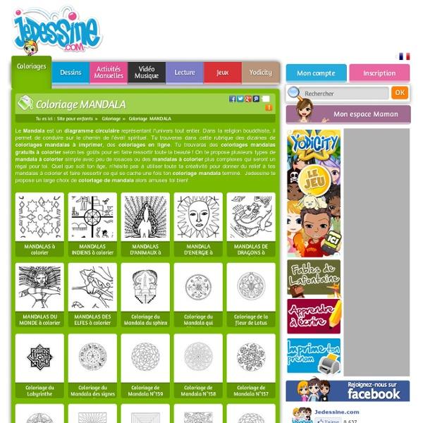 Coloriage mandala 232 coloriages en ligne gratuit pour les enfants pearltrees - Coloriage mandala en ligne ...