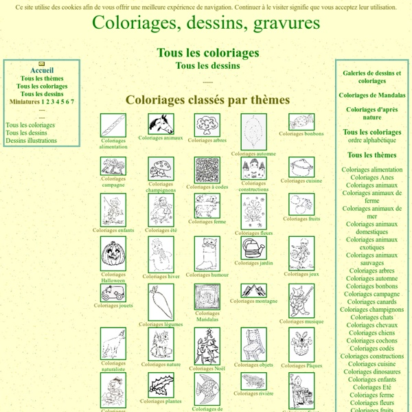 Coloriages, dessins, gravures [coloriages.dessins.free.fr]