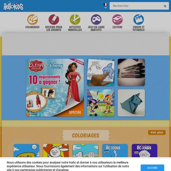 Coloriage, dessin et activités en ligne pour les enfants