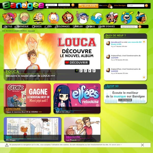 BANDGEE - Coloriages, Bandes dessinées, jeux et activités pour enfants