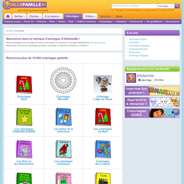 Coloriages : coloriages à imprimer, dessin à colorier : dessins pour enfants et coloriages gratuits