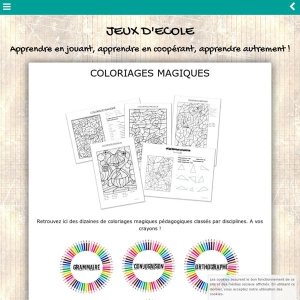 Coloriages-magiques - jeuxdecole
