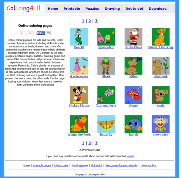 Coloring4all.com - Online coloring pages | Pearltrees