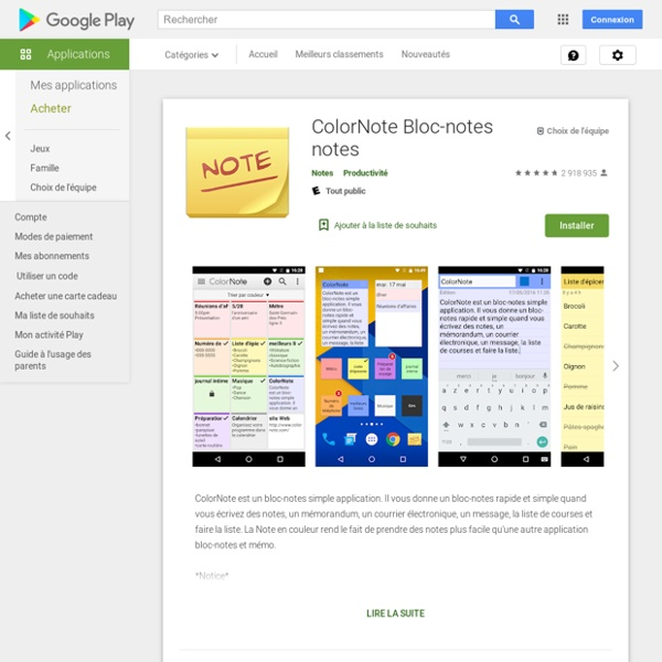 ColorNote Notepad Notes - Apps on Android Market
