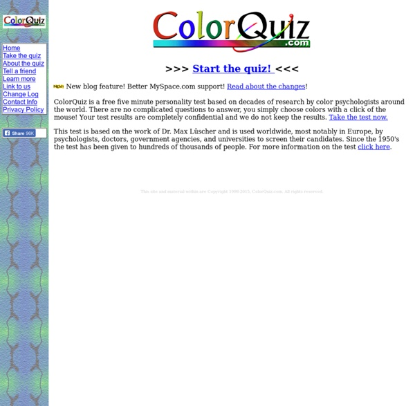 ColorQuiz.com - The free five minute personality test!
