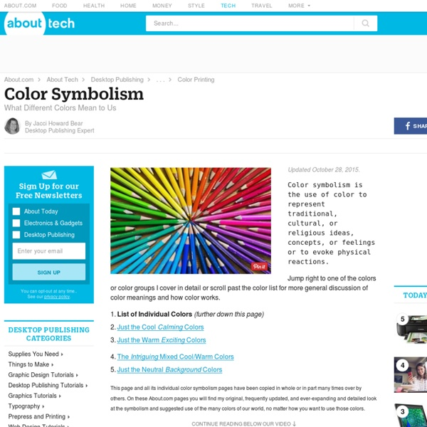 Color Symbolism and Colours That Go Together