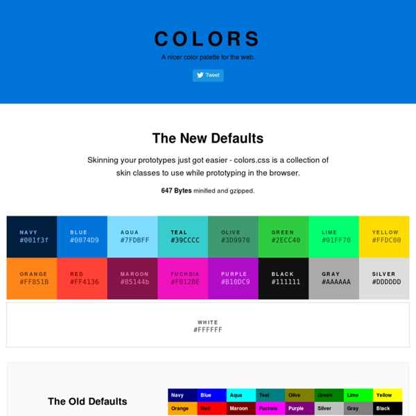 Colors - A nicer color palette for the web.