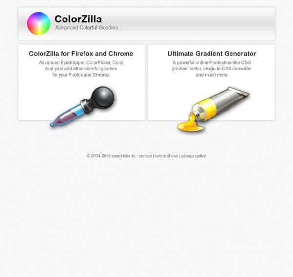 ColorZilla - Eyedropper, Color Picker