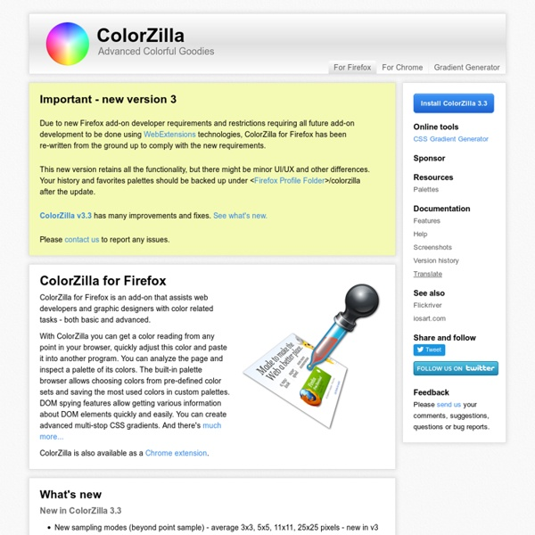 For Firefox - Eyedropper, Color Picker and much more