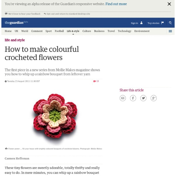 How to make colourful crocheted flowers