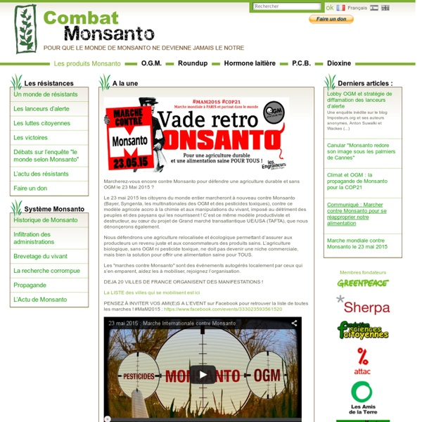 COMBAT-MONSANTO - Pour que le monde de Monsanto ne devienne jamais le nôtre