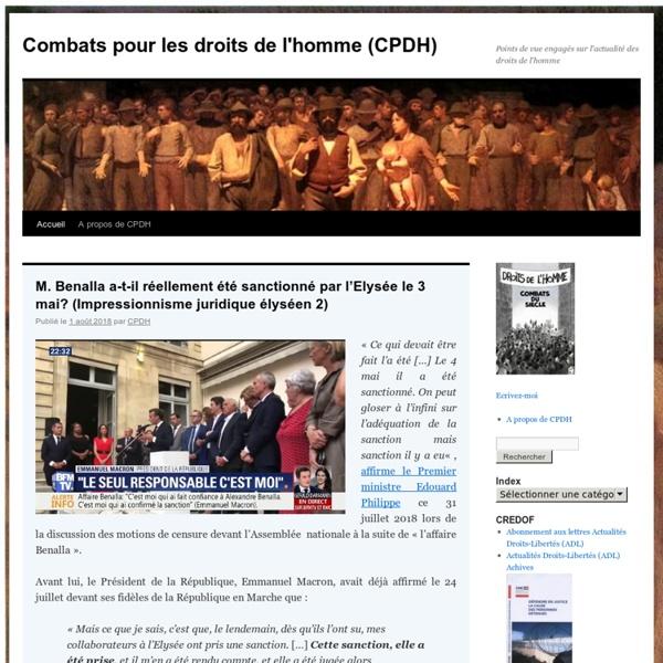 Combats pour les droits de l'homme - Blog LeMonde.fr