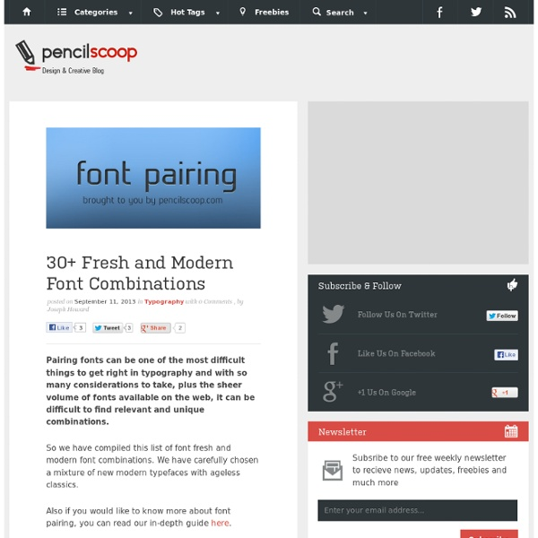 30+ Fresh and Modern Font Combinations