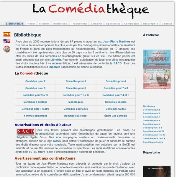 Comédiathèque théâtre pièces télécharger textes gratuit