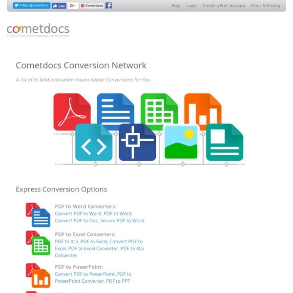 Convert Data, Files Online FREE: PDF, Word, Excel, Text, Images - StumbleUpon
