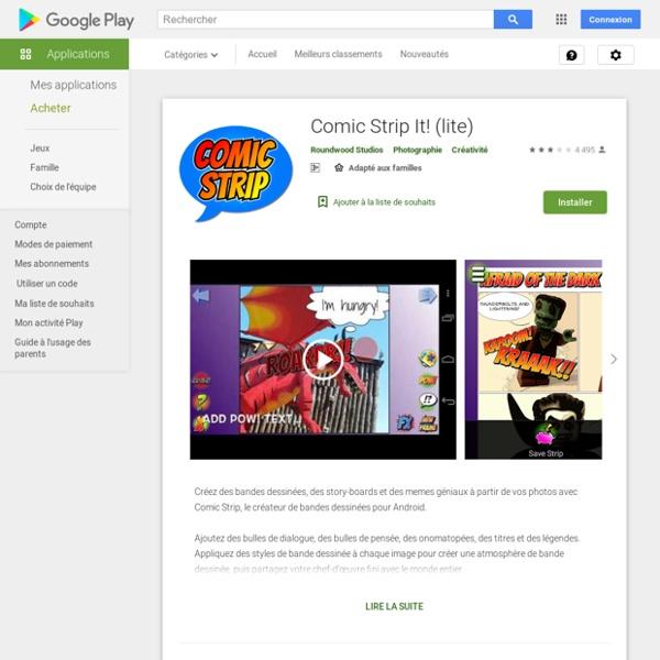 Comic Strip It! (lite) – Applications sur GooglePlay