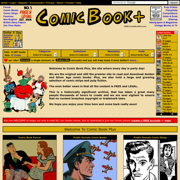 Comic Book Plus - Free And Legal Public Domain Books