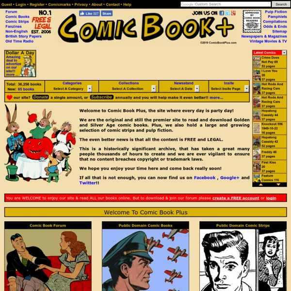 Comic Book Plus - Free And Legal Public Domain Books