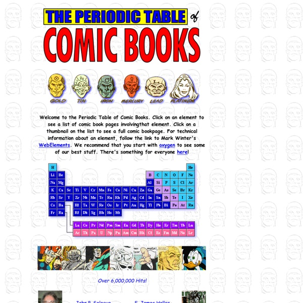 The Comic Book Periodic Table of the Elements