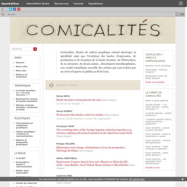 Comicalités - Études de culture graphique