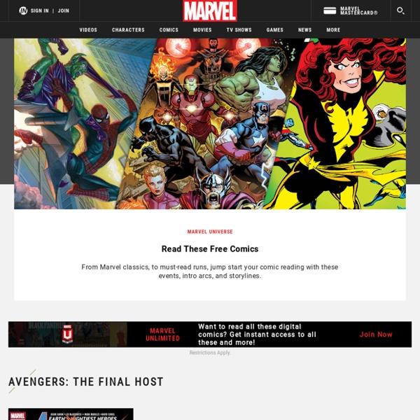 Les super héros grâce à la maison d'édition américaine Marvel qui propose des lectures libres de Comics