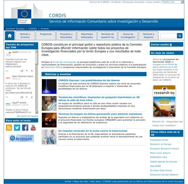 Comisión Europea : CORDIS