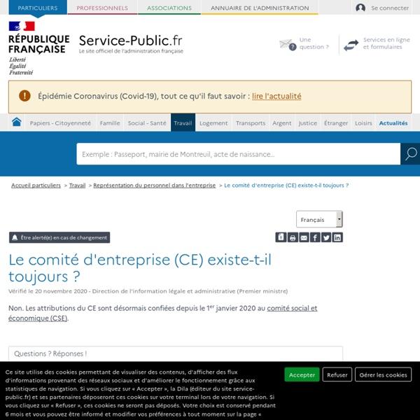 Comité d'entreprise (CE)