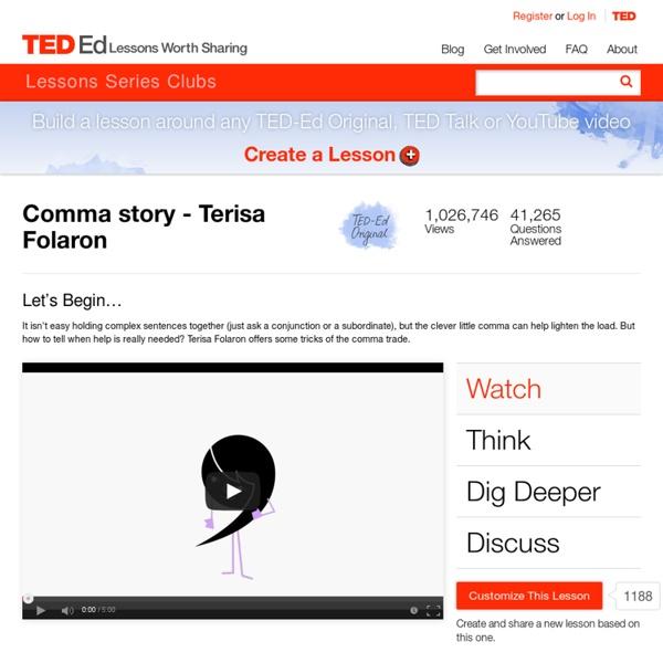 Comma story - Terisa Folaron