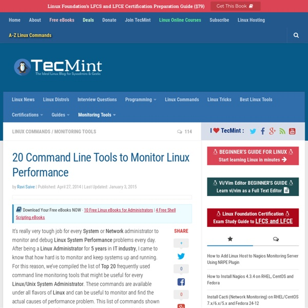 18 Command Line Tools to Monitor Linux Performance