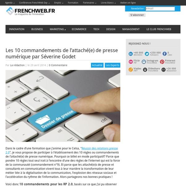 Les 10 commandements de l'attaché(e) de presse numérique par Séverine Godet
