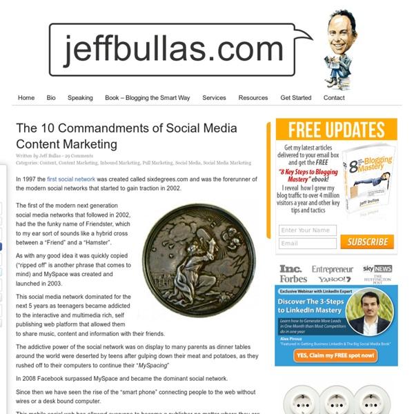 The 10 Commandments of Social Media Content Marketing