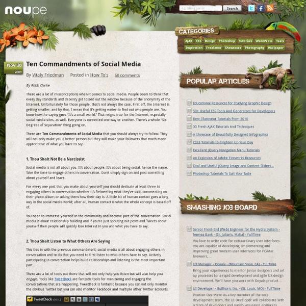 Ten Commandments of Social Media