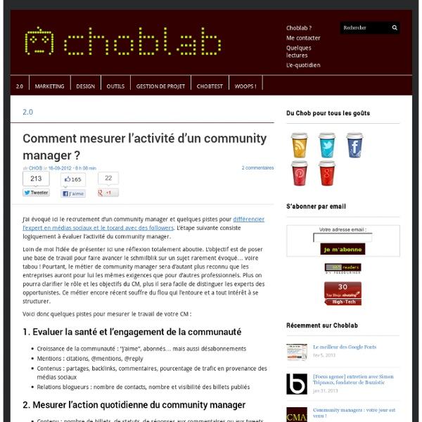 Comment mesurer l'activité d'un community manager ?