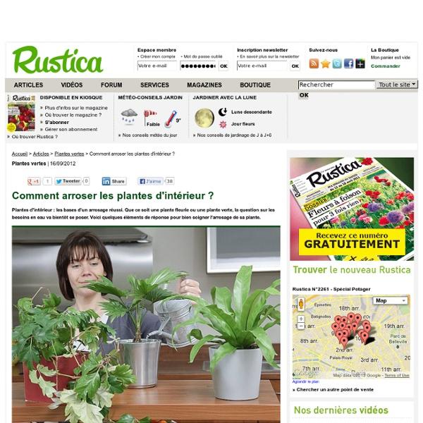 Comment arroser les plantes d 39 int rieur pearltrees - Comment bien arroser ses plantes ...