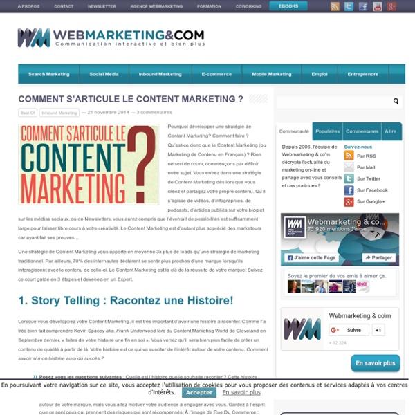 Comment s'articule le Content Marketing ?