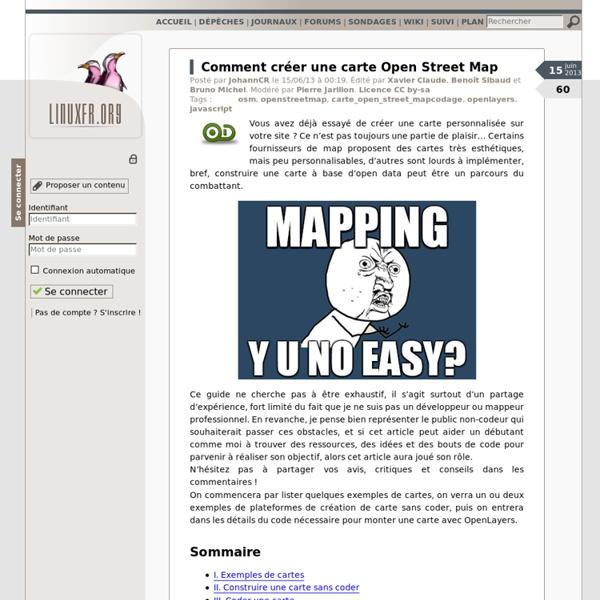 Comment créer une carte Open Street Map