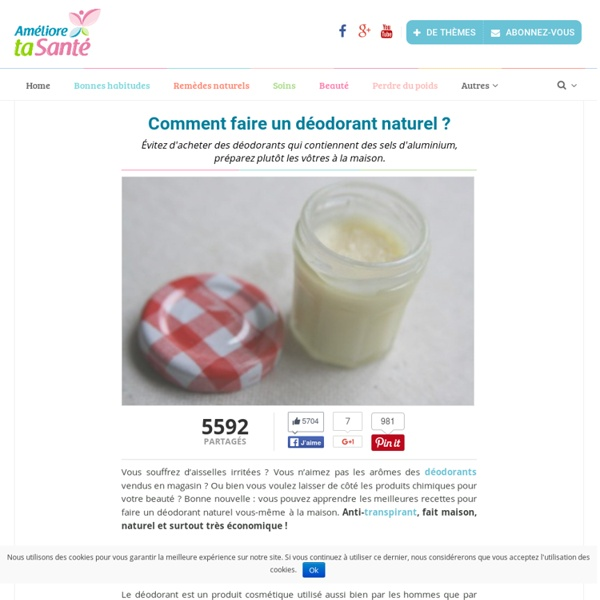 Comment faire un déodorant naturel