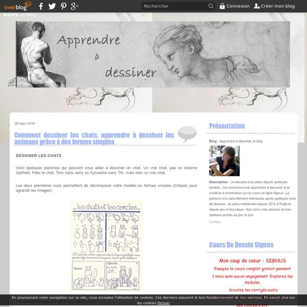 Comment dessiner les chats, apprendre à dessiner les animaux grâce à des formes simples - Apprendre à dessiner, le blog