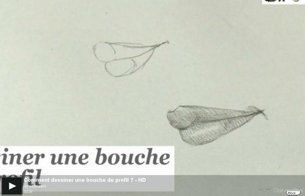 Comment dessiner une bouche de profil ? - HD