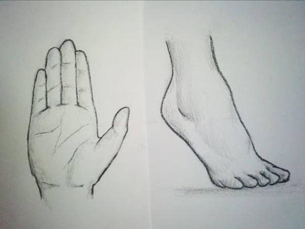 Comment dessiner des Mains & Pieds [Tutoriel]