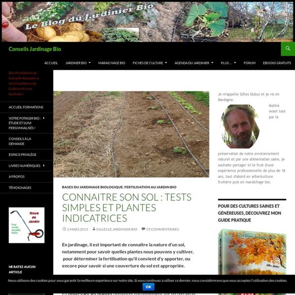 Comment déterminer simplement la nature du sol ?