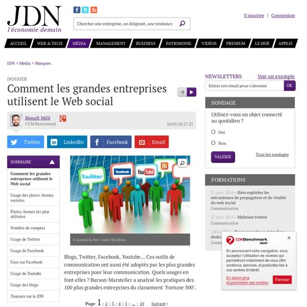 Comment les grandes entreprises utilisent le Web social - Journa