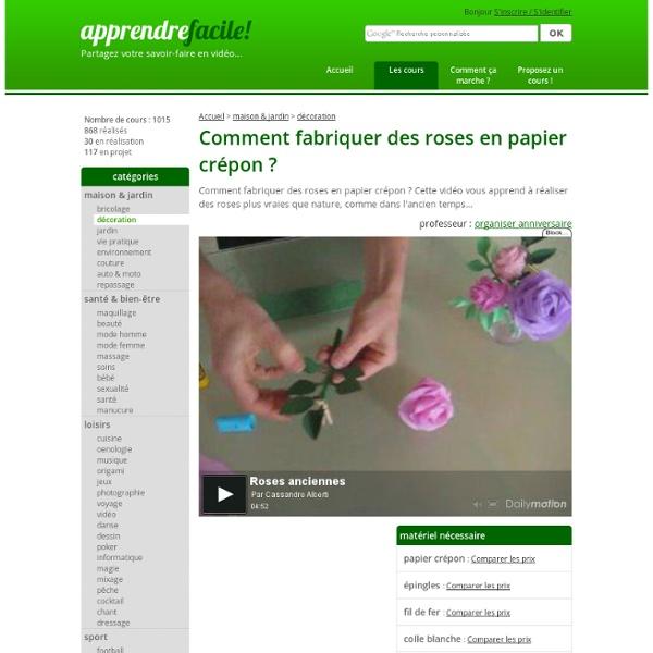 Comment fabriquer des roses en papier crépon