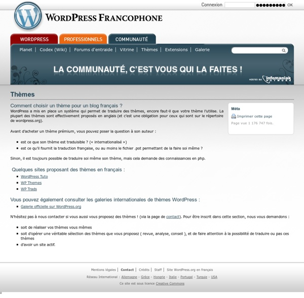 Thèmes WordPress Fr